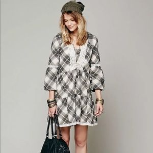 Free People Constantine Plaid Dress Size Small
